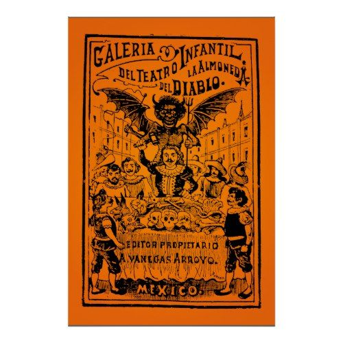 HALLOWEEN SALE! La Almoned del Diablo (Posada) Poster Halloween ideas - halloween poster ideas
