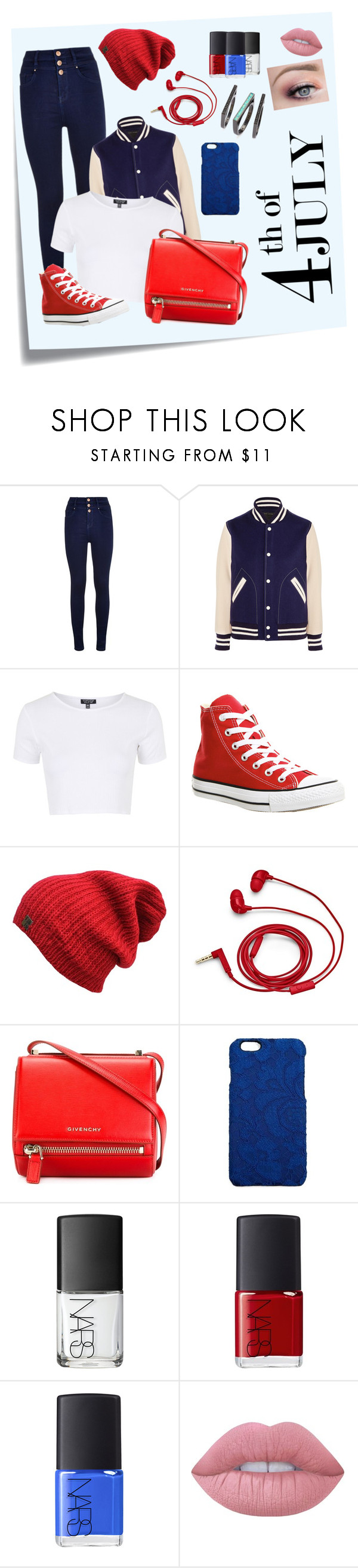 """73"" by lightning1208 on Polyvore featuring Post-It, Marc Jacobs, Topshop, Converse, FOSSIL, Givenchy, Dolce&Gabbana, NARS Cosmetics, Lime Crime and Kendra Scott"