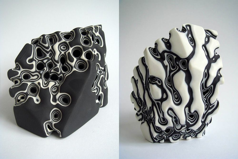 Erosion: Layered Porcelain Sculptures Sandblasted to Mimic Biological Forms  http://www.thisiscolossal.com/2015/05/erosion-porcelain-tamsin-van-essen/