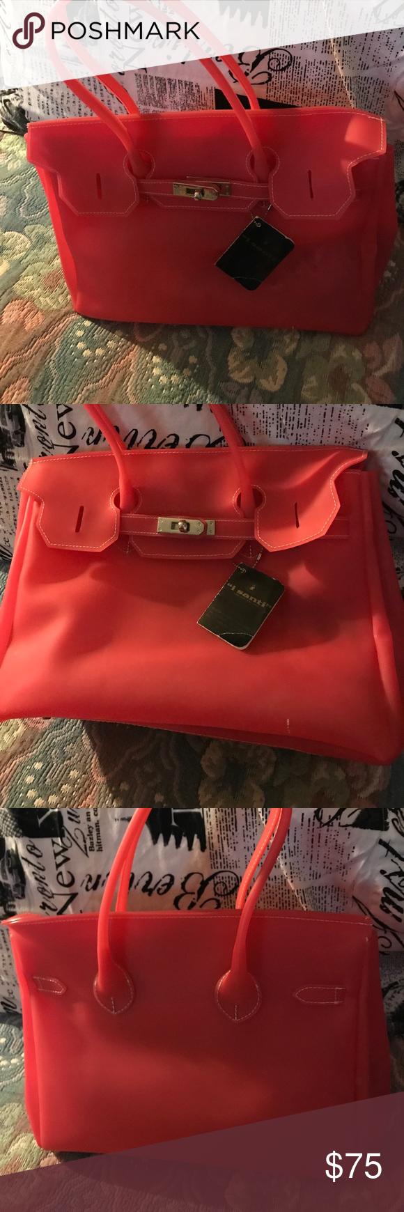 I Santi Jelly Bag Beautiful Italian Handbag Fashion Style Brand New Just D