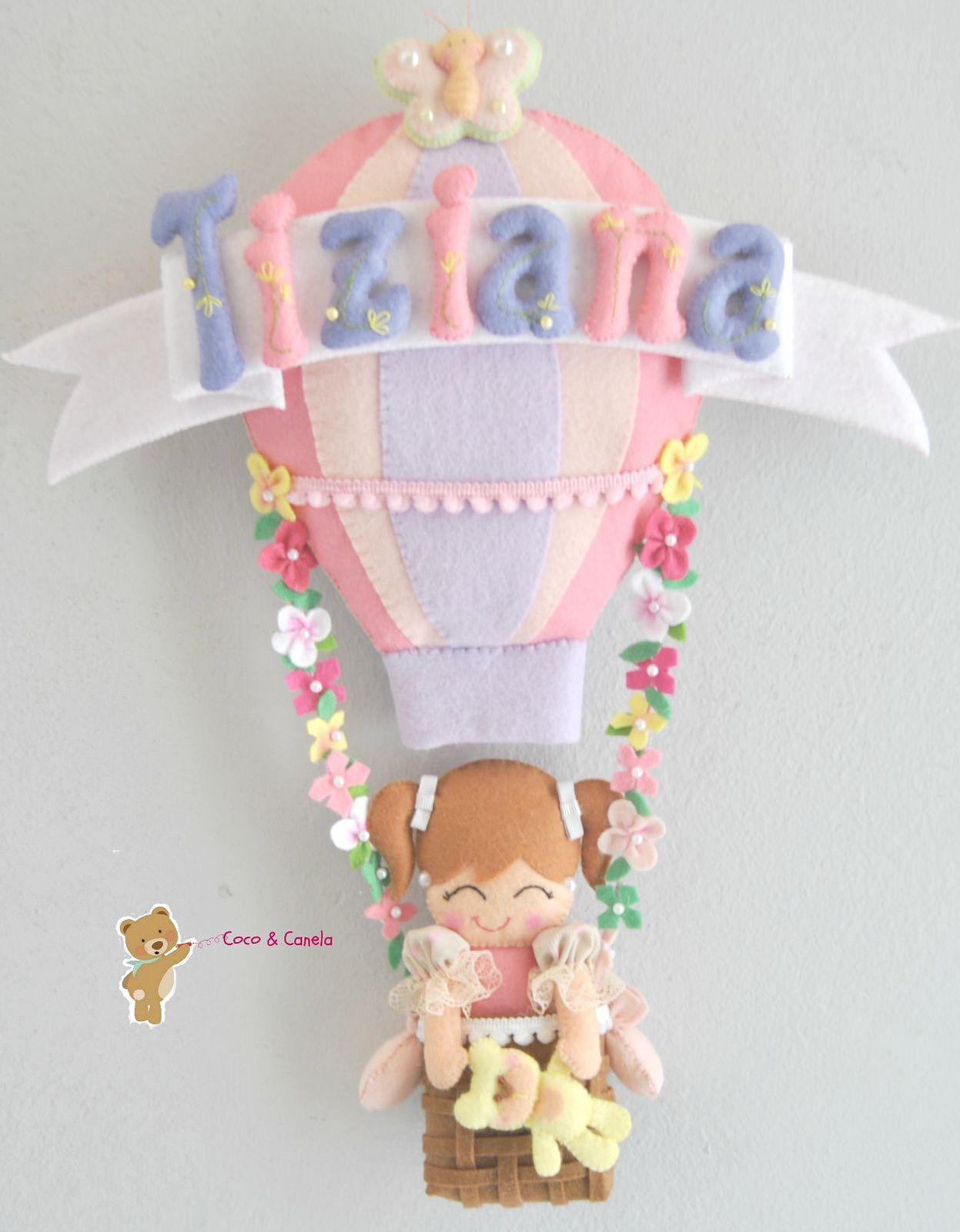 Ideas Para, Felt Garland, Felt Wreath, Air Ballon, Hot Air