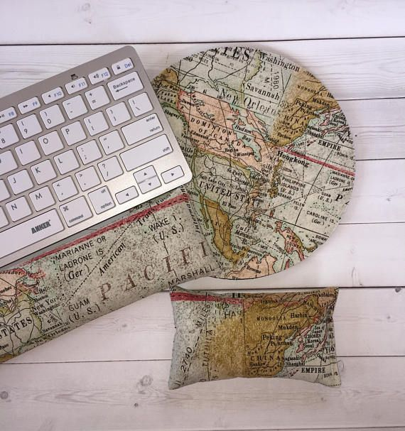 World map keyboard rest and or wrist rest for mousepads chic world map keyboard rest and or wrist rest for mousepads chic cute preppy gumiabroncs Gallery