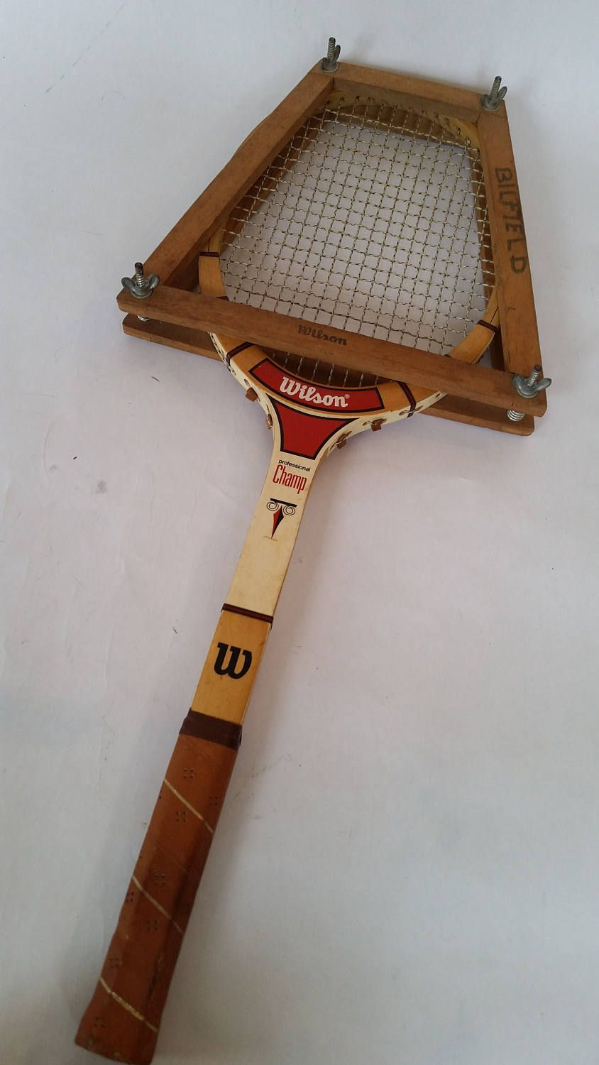 Vintage Tennis Racket and Frame 1970's Wilson Professional