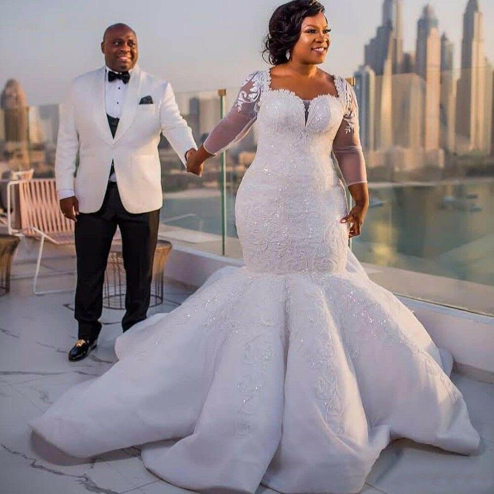 Gorgeous Plus Size Wedding Dresses South Africa Mermaid Long Sleeve Bridal G Sparkle Wedding Dress Long Sleeve Mermaid Wedding Dress Lace Mermaid Wedding Dress