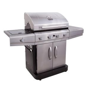 Char Broil Classic 4 Burner Propane Gas Grill With Side Burner 463461613 At The Home Depot 299 Gas Grill Propane Gas Grill Gas Grills On Sale