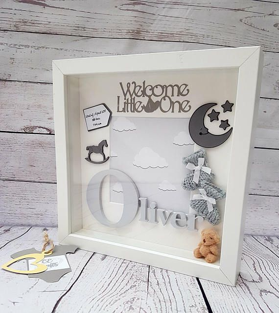 Personalised Baby Frame | Letter Frame | Baby Frame | Baby Gift ...