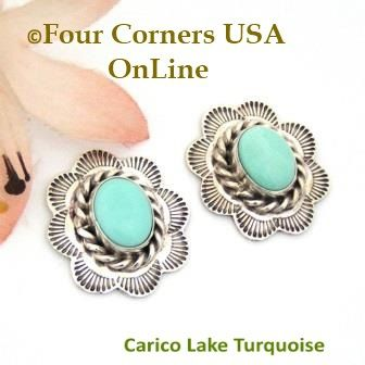 Four Corners USA Online - Carico Lake Turquoise Sterling Concho Earrings Darlene Platero No 2 Native American Silver Jewelry, $55.00 (http://stores.fourcornersusaonline.com/carico-lake-turquoise-sterling-concho-earrings-darlene-platero-no-2-native-american-silver-jewelry/)