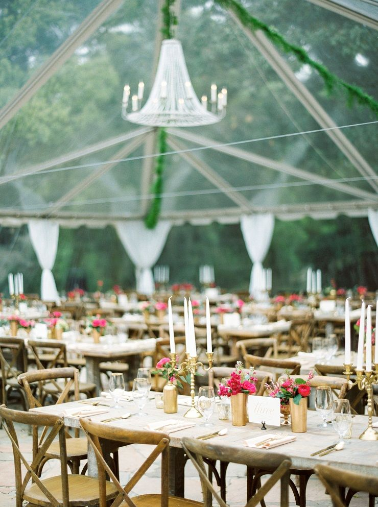 Beautiful wedding reception under clear tent | fabmood.com