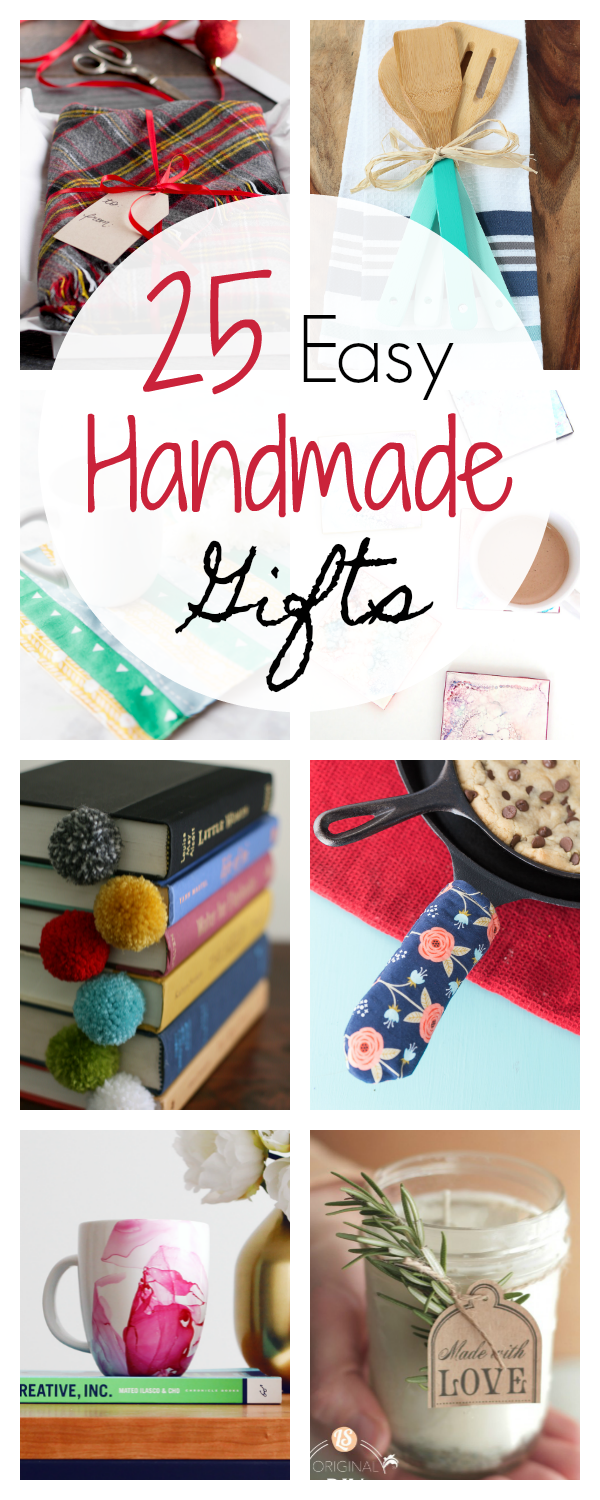25 Quick And Easy Homemade Gift Ideas Crafts Pinterest