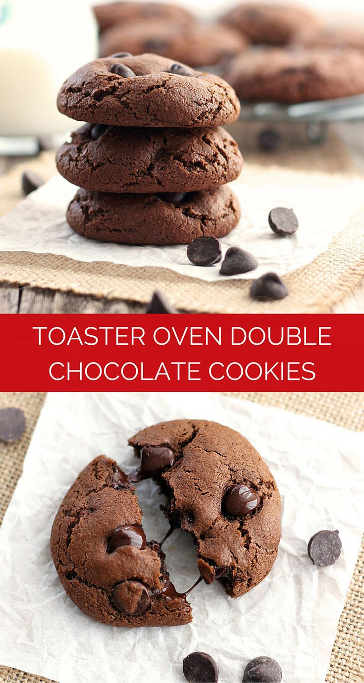 Toaster Oven Double Chocolate Cookies Recipe Toaster