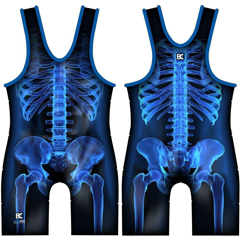 781567f25944a X-Ray Wrestling Singlet