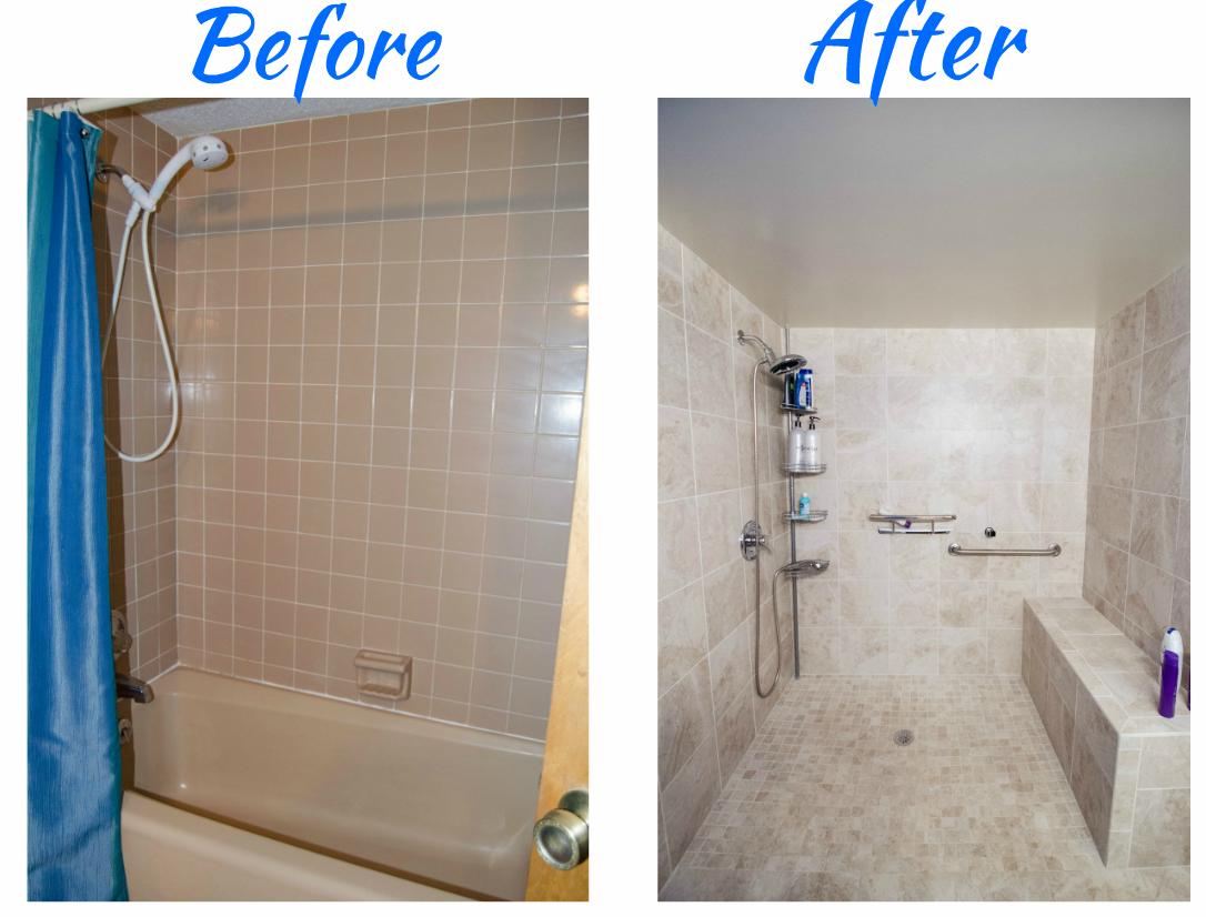 Talk about a Shower - This doorless, glass, walk-in shower was ...