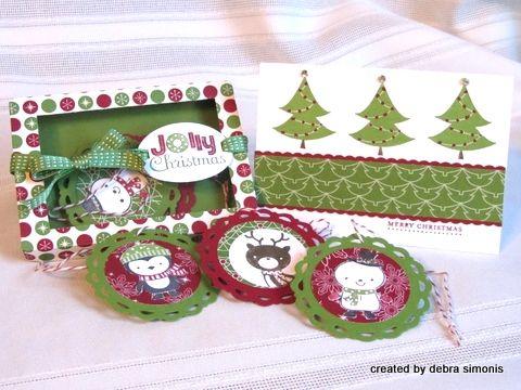 Christmas Tag Box and Coordinating Note Card-001