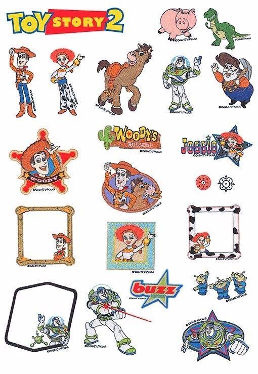 Stickmuster Datei -Stickdatei Sammlung/D15 Brother Disney Toy Story ...