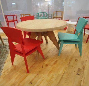 Mesa de jantar redonda Esquadros - Renar