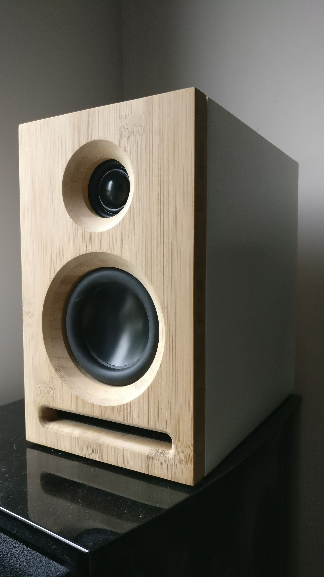 Handmade Bamboo Stereospeakers Built In Speakers Wooden Audio Bookshelf