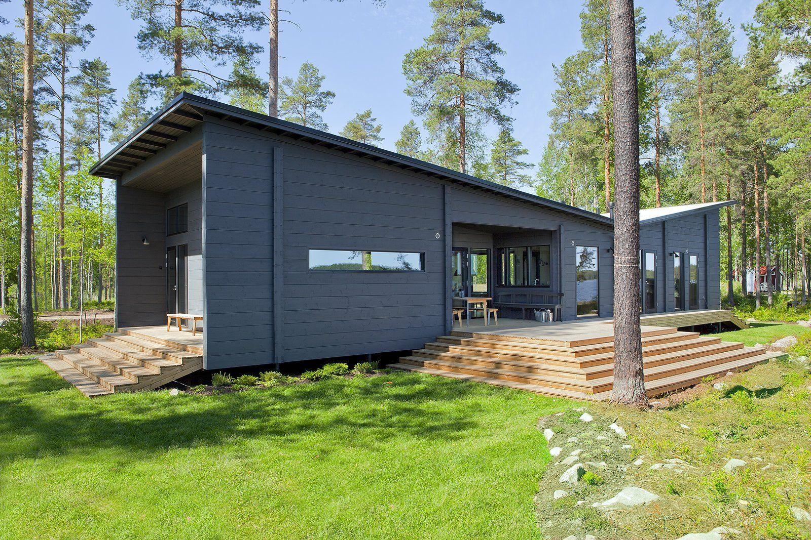 These 8 log cabin kit homes celebrate nordic minimalism prefab cabin nordic minimalist