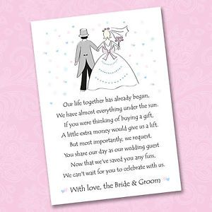 poem asking for money wedding gift - Google Search Wedding gift poem ...
