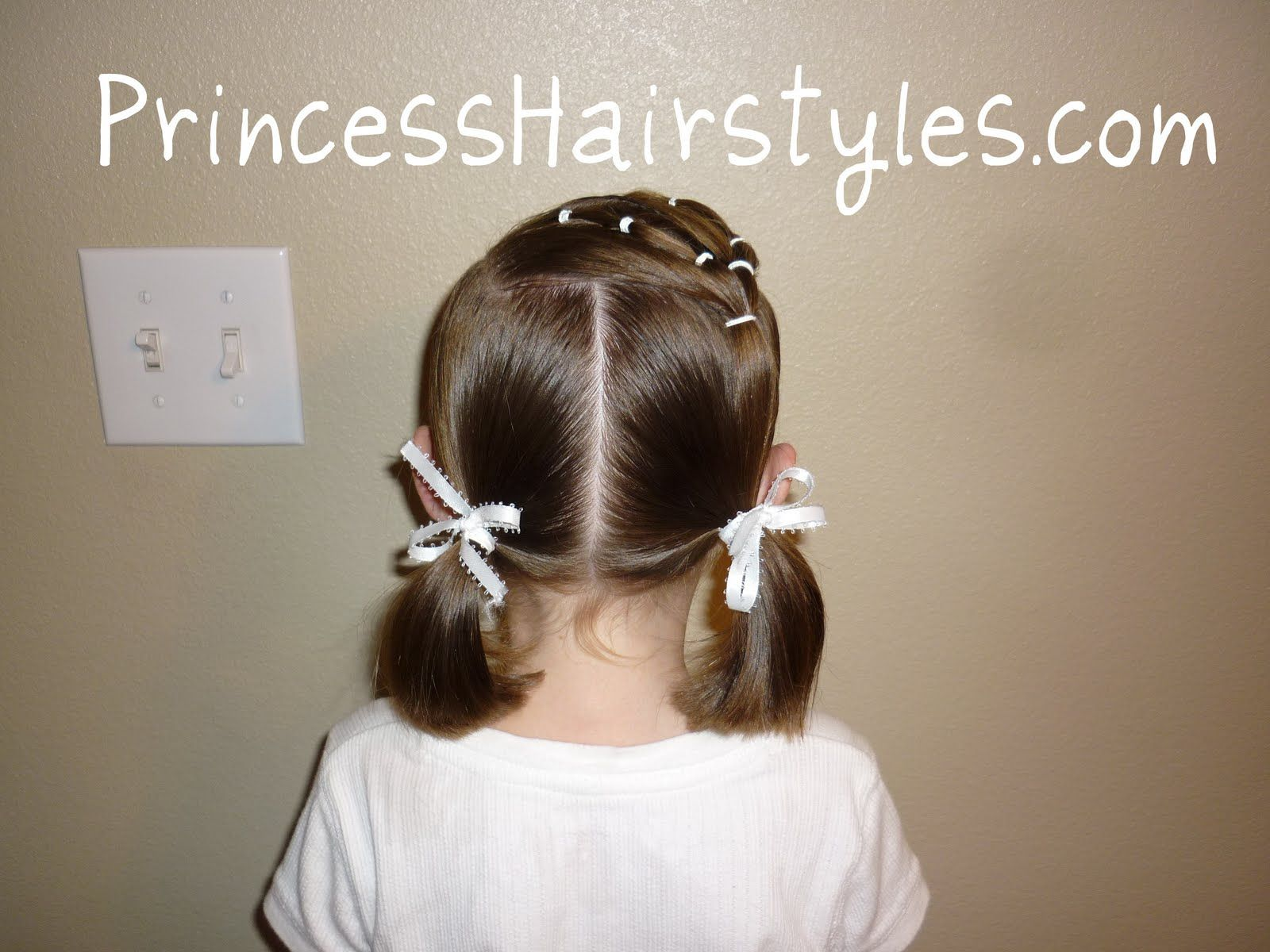 Pigtails with bows hairstyles for leyla pinterest pigtail