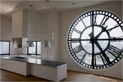 huge clock window.
