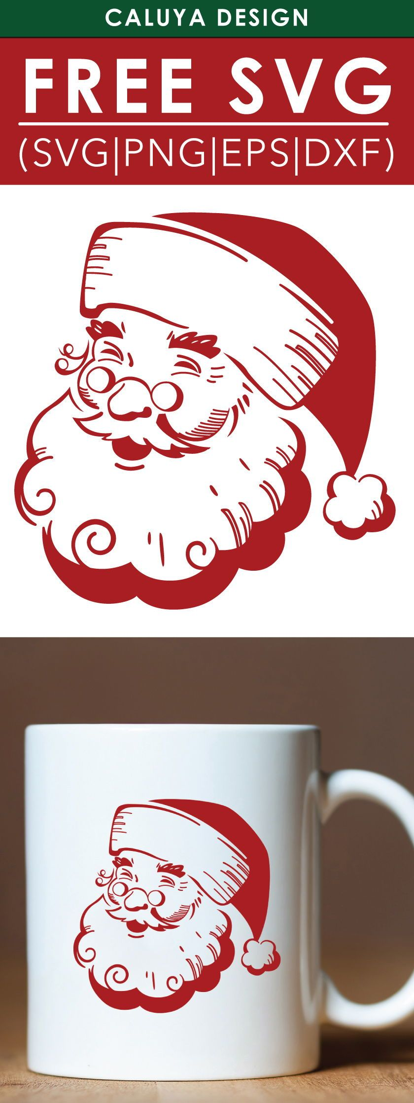 Free Vintage Santa Svg Png Eps Dxf By Caluya Design Christmas Svg Files Christmas Svg Free Printable Clip Art