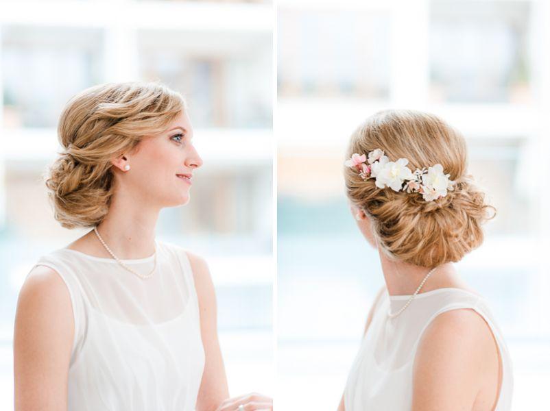 Brautfrisuren hochgesteckt schlicht  Brautfrisur zum Hochstecken selbermachen | Brautfrisuren - wedding ...