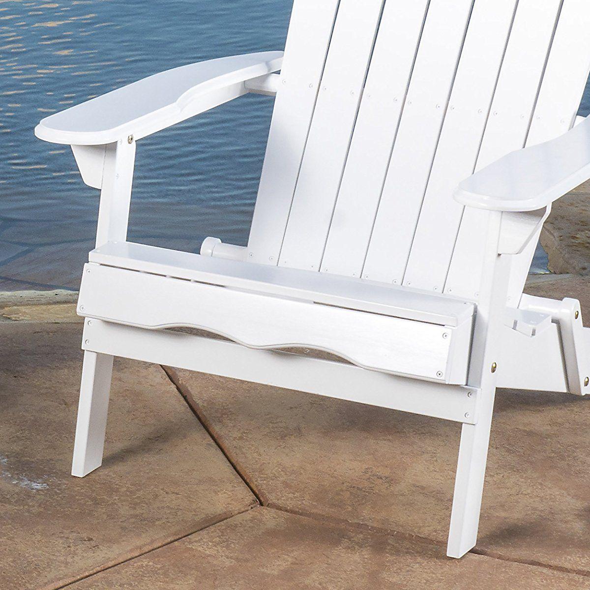 Outdoor Folding Wood Adirondack Chair