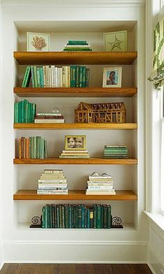 My Point Exactly White Walls Wood Shelves Perfect Lovely Built In