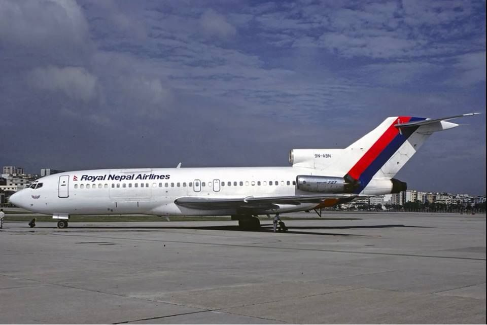 Historical Photo Airline Royal Nepal Airlines In Past