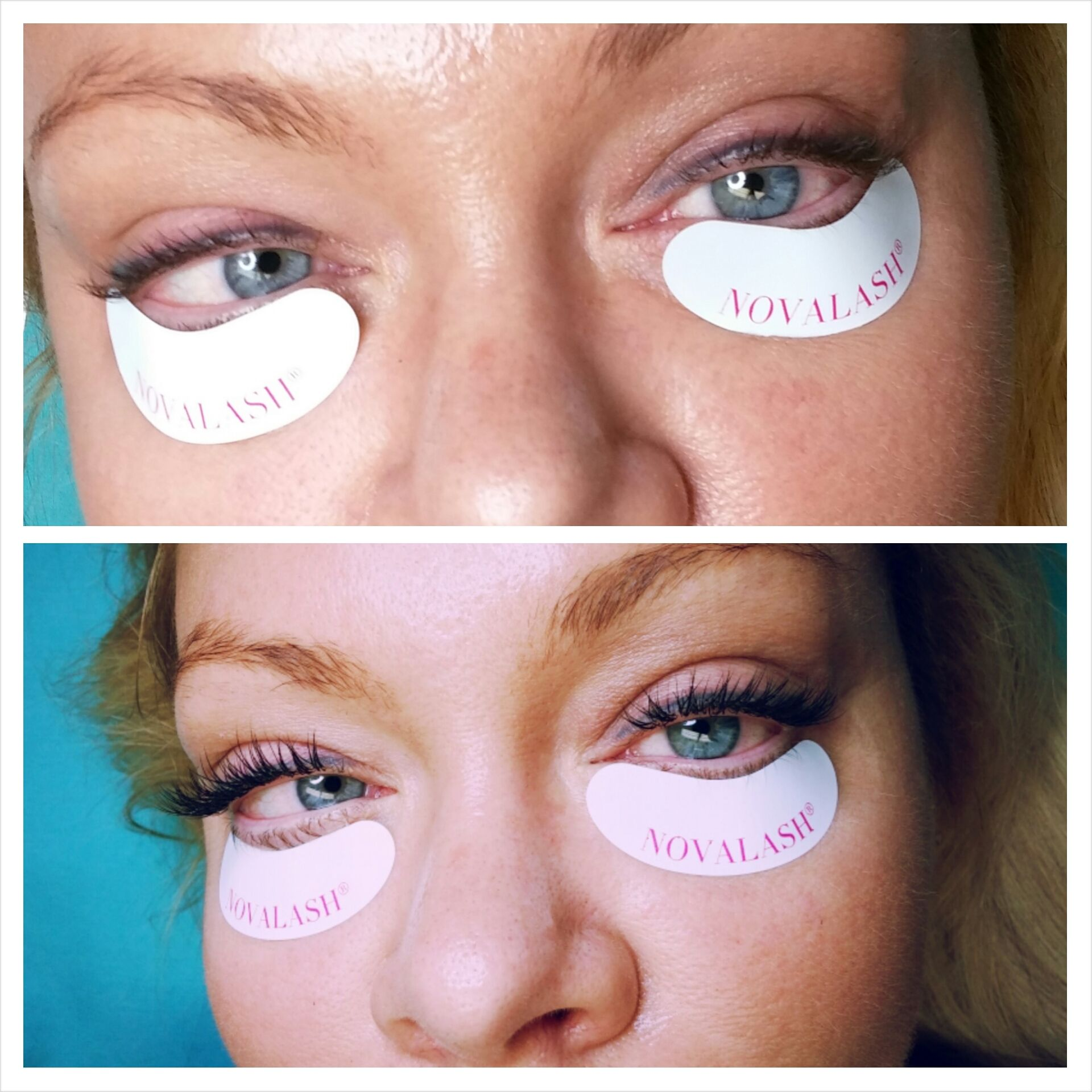 Before and after of #novlash #eyelashextensions full set ...