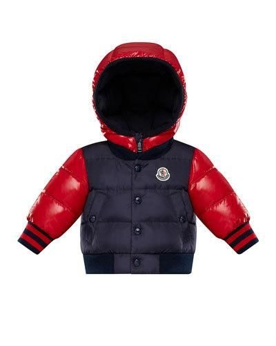 6e2580da9 Moncler Monieux Two-Tone Puffer Coat, Size 12M-3 | Products in 2019 ...