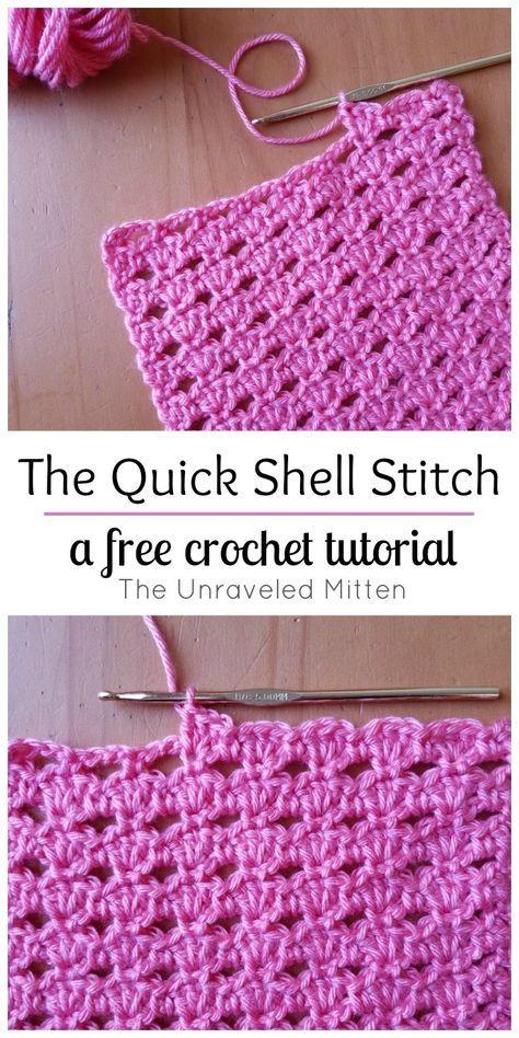 The Quick Shell Stitch: A Crochet Tutorial | Puntos basicos de ...