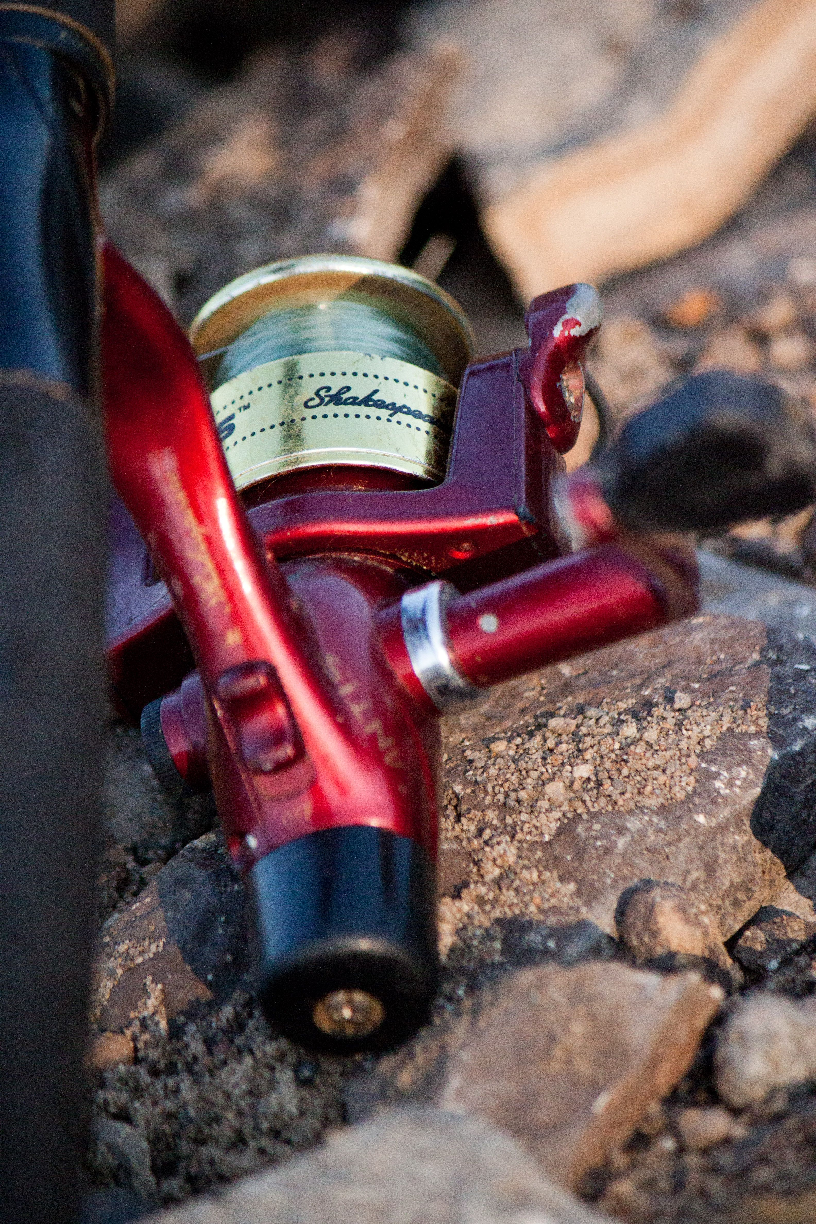 Cant go fishing without a pole reel going fishing