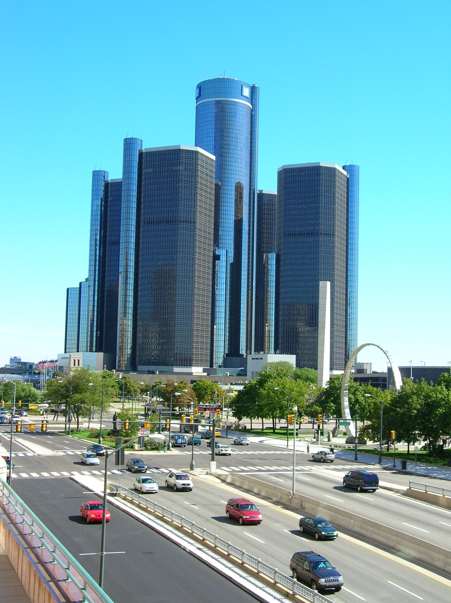 Detroit MI. Renaissance center. Shopped there, worked ...