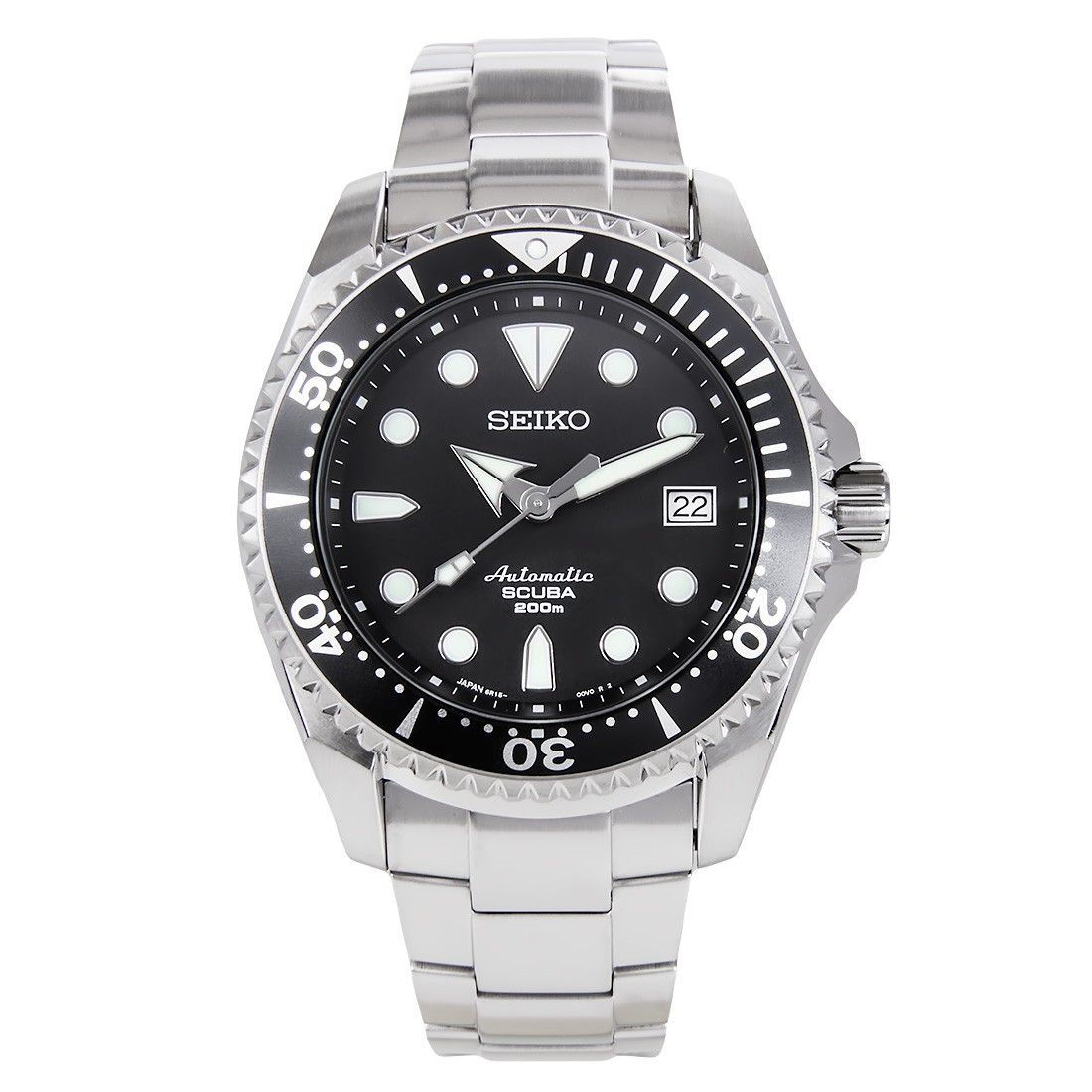Seiko Sumo Shogun Automatic Scuba Diver Black Dial Watch