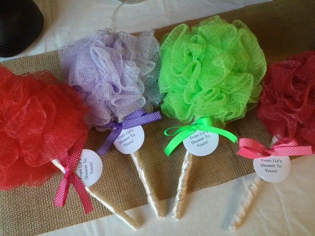 Loofah Baby Rattles