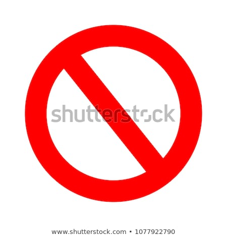 Vector Stop Sign Icon No Sign Red Warning Isolated Vector Icon Stop Sign