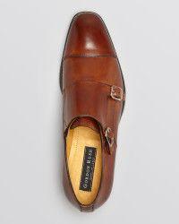 af86e214853 Gordon rush Copley Double Monkstrap Cap Toe Leather Oxfords in Brown for  Men (Cognac)