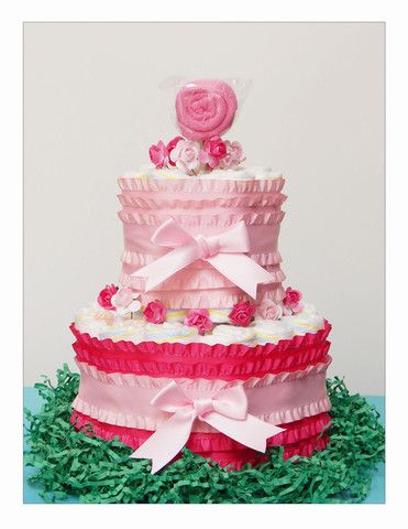 Girly Girl – Blue Zebra Diaper Cakes, LLC
