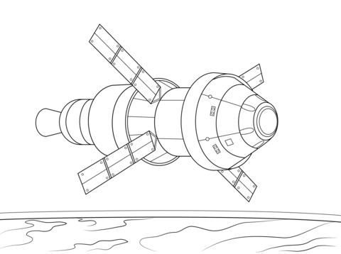 Orion Spacecraft Service Module Coloring Page Color Me