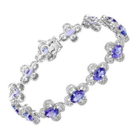 Tanzanite & Diamond Bracelet – Kiara's Fine Jewelry