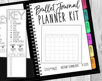 Level 10 Life Planner Bullet Journal Printable dot and graph | Etsy