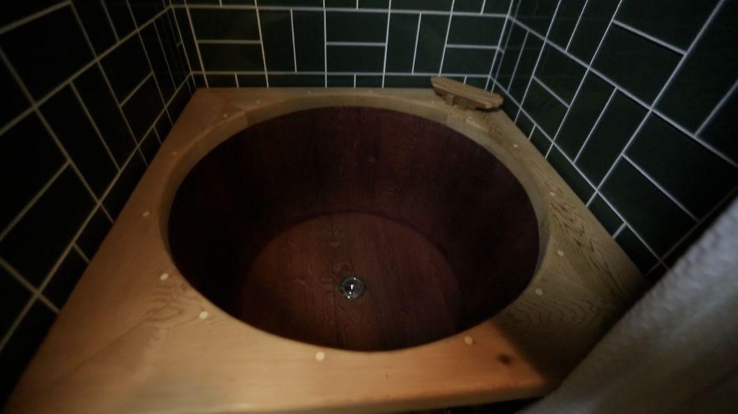 Wine Barrel Bathtub In A Tiny House