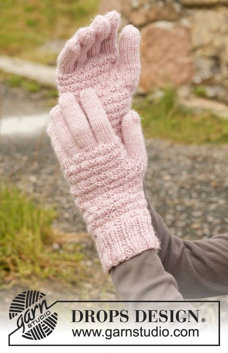 Knitted Drops Gloves In Karisma Drops Design Knitting