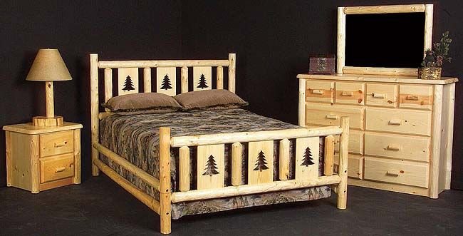 Rustic Furniture Rustic Pine Log Twin Montana Insert Bed Bedroom Furnishings Log Furniture Log Bedroom Furniture