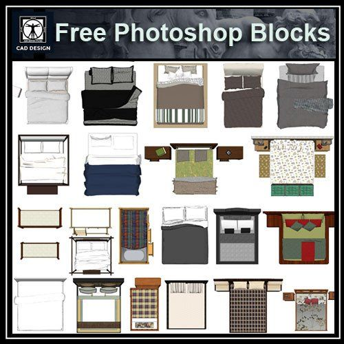 Free Photoshop Psd Bed Blocks 2 Arquitectura In 2019
