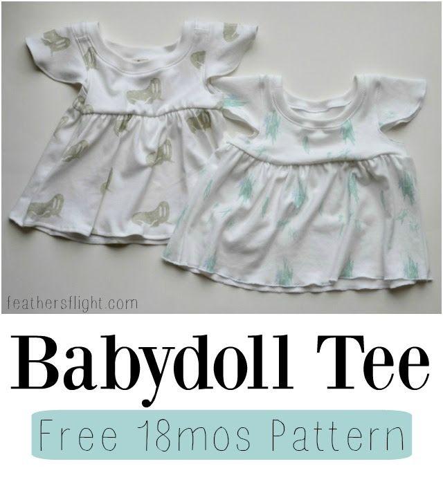FREE PATTERN: 18 mos Babydoll Tee