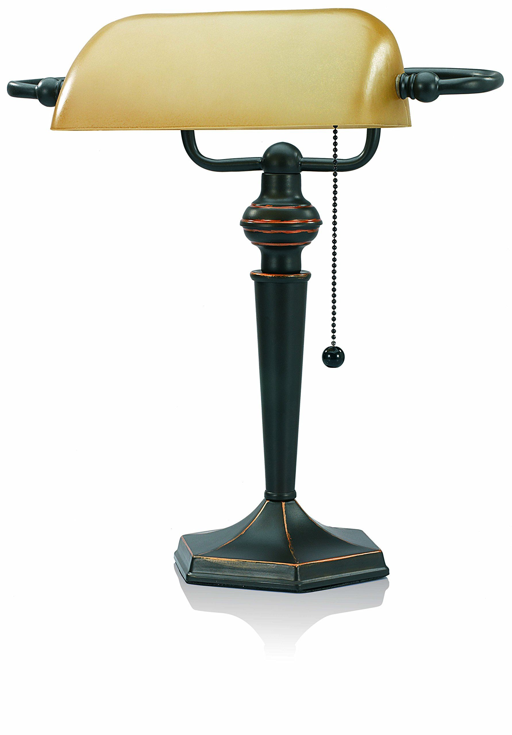 Vlight Traditional Style Cfl Bankers Desk Lamp With Amber Glass Shade Cavs91045brz Check This Awesome Product By Going T Bankers Lamp Lamp Bankers Desk Lamp