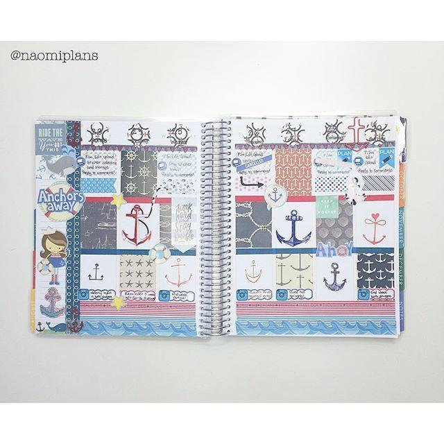 This weeks spread complete in my @erincondren vertical life planner! ⚓️ #ec #eclp #erincondren #eclifeplanner #erincondrenlifeplanner #lifeplanner