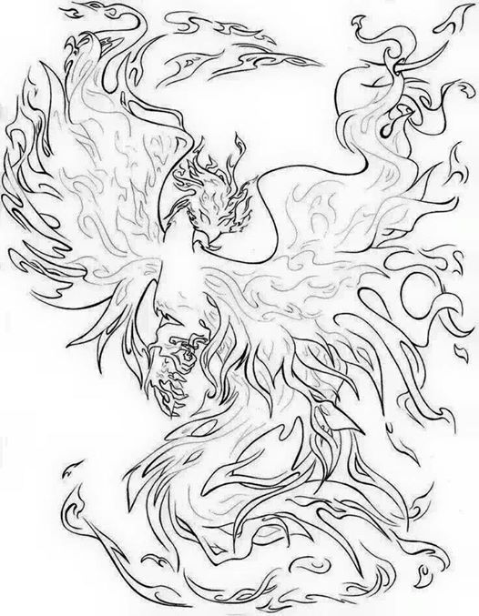Phoenix rising from the ashes. | Color Me Happy | Pinterest ...